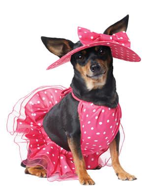 Disfraz de diva con glamour para perro
