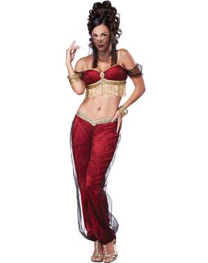 Disfraz de bailarina oriental rojo para mujer