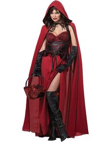 Disfraz de Caperucita oscura para mujer