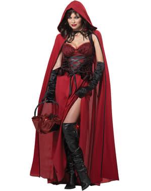 Dámský kostým temná Červená Karkulka
