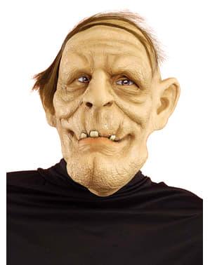 Máscara de anciano desdentado para adulto