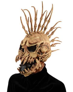 Máscara de esqueleto roqueiro do inferno para adulto