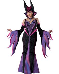 Dunkle Königin Kostüm für Damen in großer Größe Classic