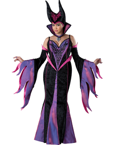 Kostuum duistere koningin voor vrouwen grote maat