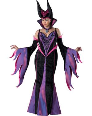 Kostuum duistere koningin voor vrouw grote maat