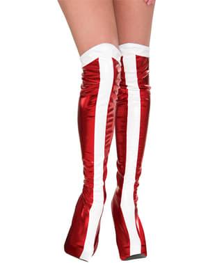 Tapa botas de Mulher-Maravilha para mulher