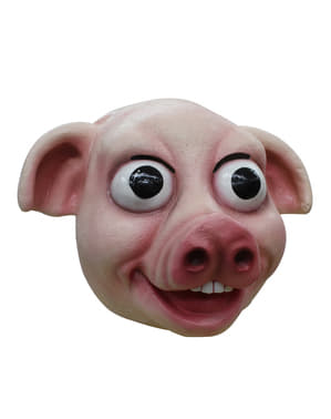 Máscara de cerdo feliz para adulto