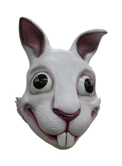Máscara de conejo blanco para adulto