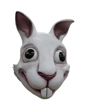 Máscara de coelho branco para adulto
