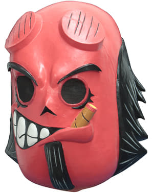 Máscara de Hellboy día de los muertos para adulto