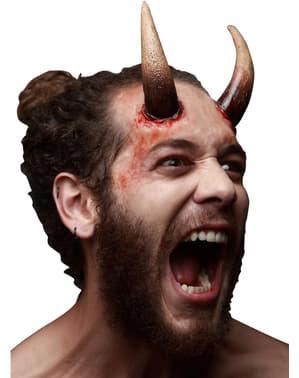 Prótesis de látex maxi cuernos infernales