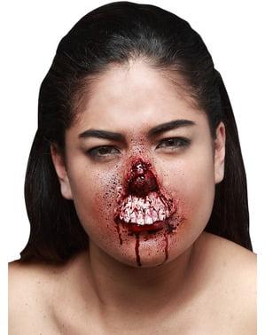 Fausse blessure bouche arrachée