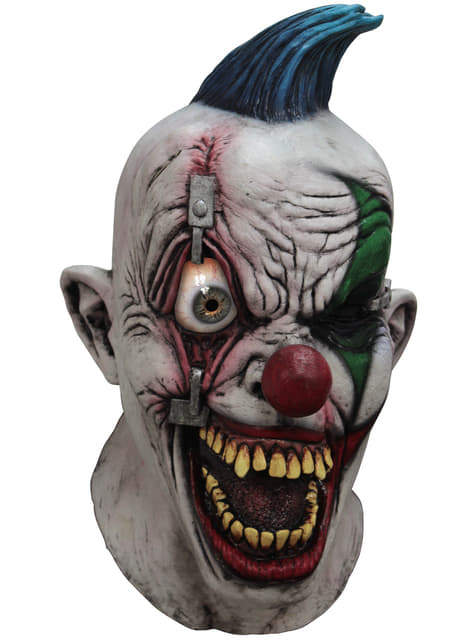 Adult's Pinned Eye Clown Digital Mask