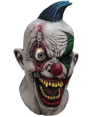 Digitaal masker Pinned Eye Clown voor volwassenen