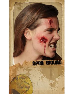Latex prothese open wond