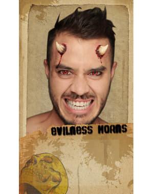 Latex prothese satanische hoorns