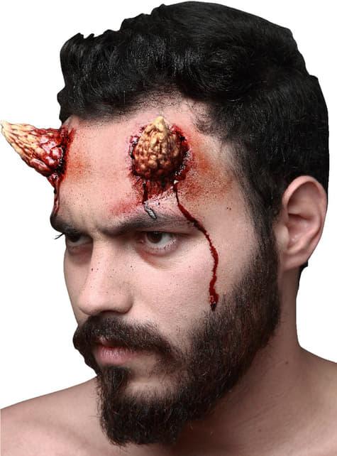 Prótesis de látex maxi cuernos de diablo