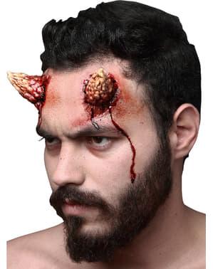 Proteză din latex maxi coarne de diavol