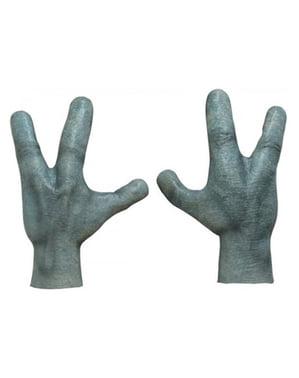 Mãos de extraterrestre para adulto