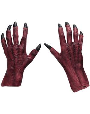 Mãos de demónio tenebroso para adulto
