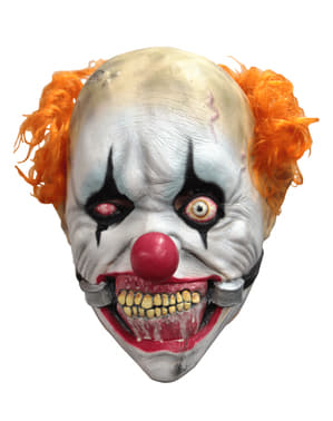 Máscara de palhaço sorridente para menino