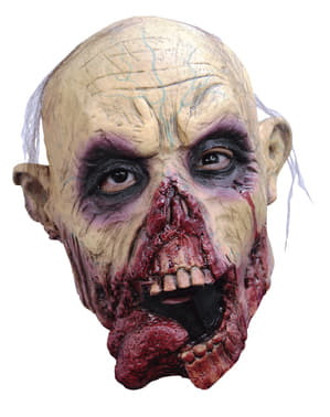 Detská maska zombie vyplazujúci jazyk
