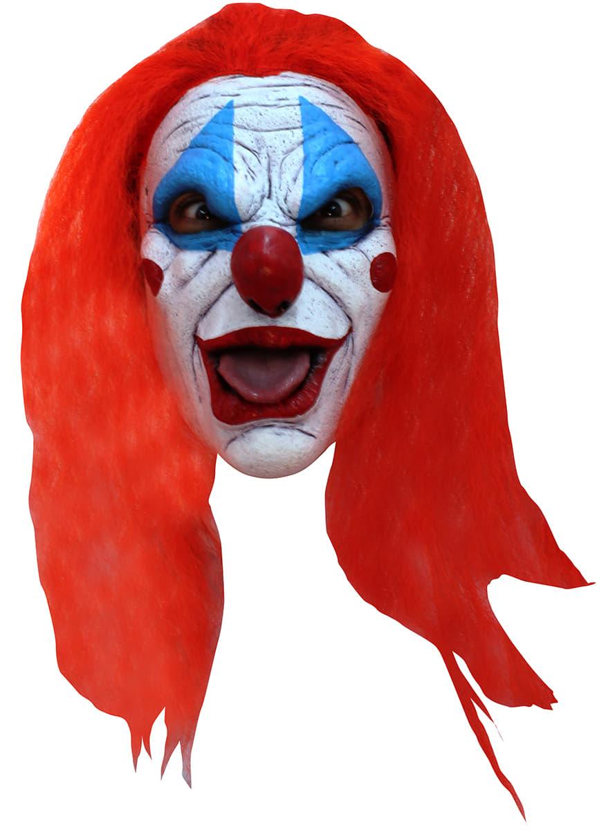 lustige clown maske mit haaren f r erwachsene f r kost m funidelia. Black Bedroom Furniture Sets. Home Design Ideas