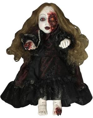 Figura dekoracyjna makabryczna porcelanowa lalka