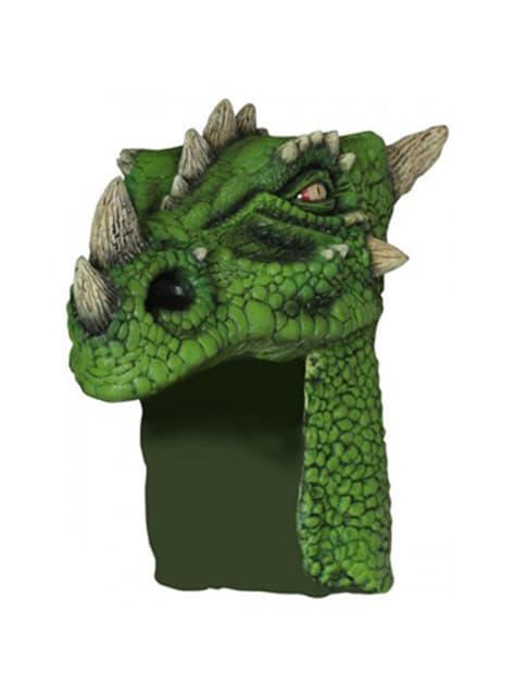Gorro de dragón verde para adulto
