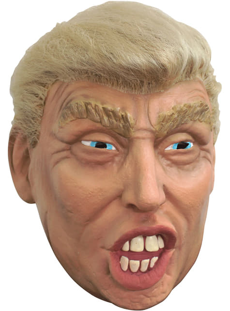 Adult's Donald Trump Mask with Hair