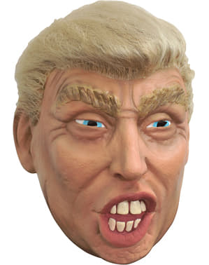 Máscara de Donald Trump con pelo para adulto