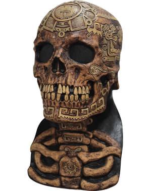 Máscara de calavera tatuada para adulto