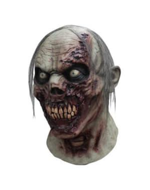 Máscara de zombie em decomposição para adulto