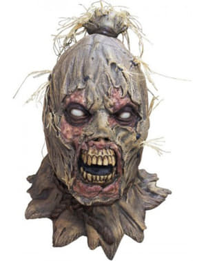 Máscara de espantalho zombie para adulto
