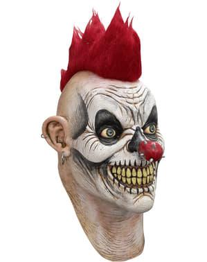 Máscara de palhaço punk para adulto