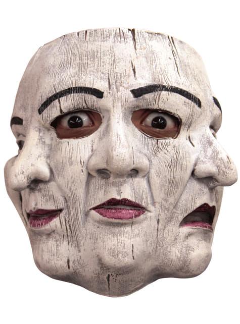 Máscara de mimo triplicado para adulto