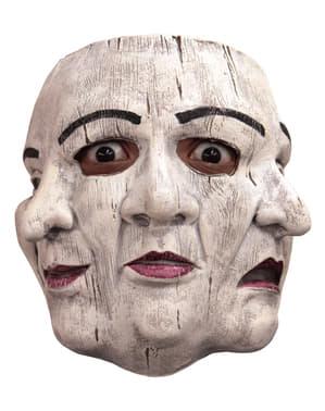 Mimermaske med 3 ansigter til voksne
