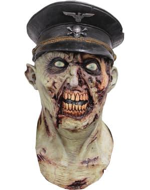Máscara de Capitán del ejercito zombie para adulto