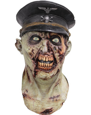 Máscara de Capitão do exército zombie para adulto