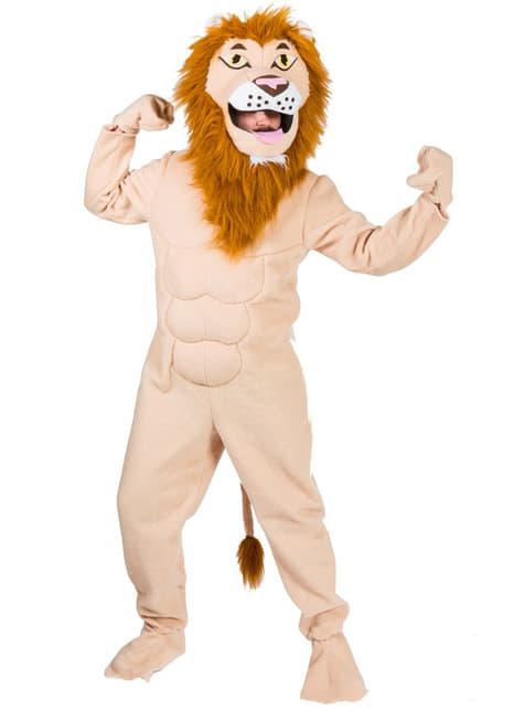 Disfraz de león rey de la selva para adulto