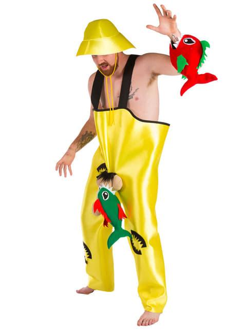 Disfraz de pescador de pirañas para hombre