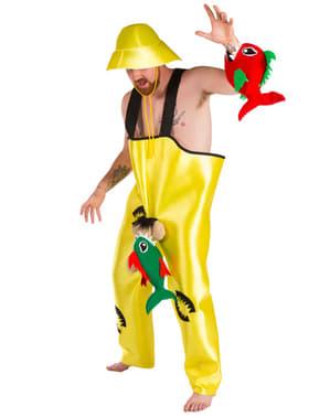 Piranha fisherman costume for a man