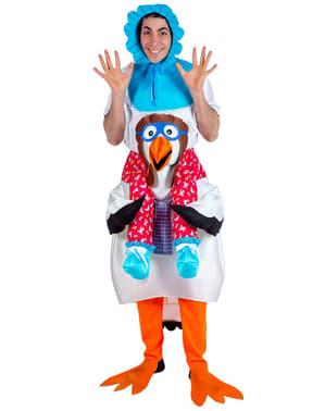 Maskeraddräkt Baby och stork Ride On för vuxen