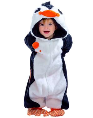 Costum de pinguin adorabil pentru bebeluși