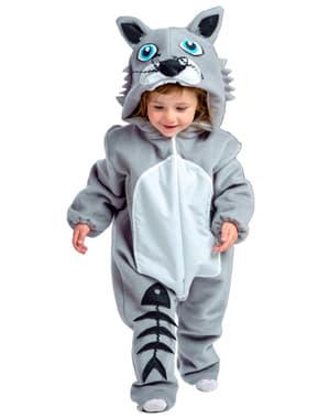 Disfraz de gato gris para bebé