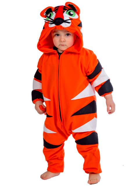 Disfraz de tigre feroz para bebé