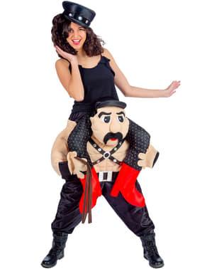 Huckepack Kostüm Stripper Sado für Damen
