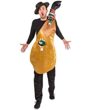Serrano ham kostuum voor mannen