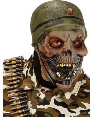 Máscara de soldado esqueleto para adulto