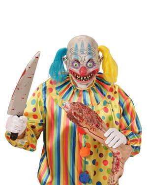 Máscara de palhaço psicopata com totós para adulto